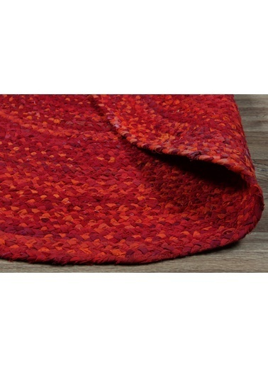 MarkaEv Flatweave Jüt El Halısı Kırmızı